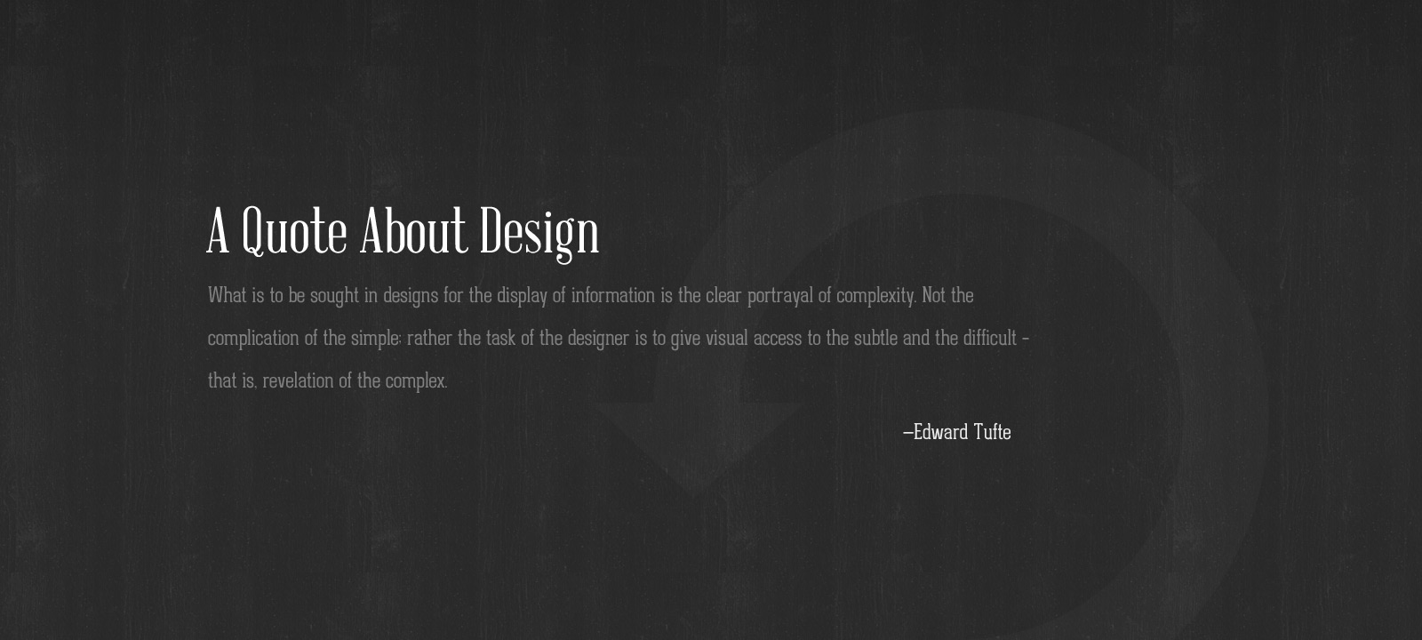 A Quote On Design